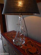 """Rare pied lampe en cristal """"Saint-LOUIS"""". Estampille...St Louis lamp"""