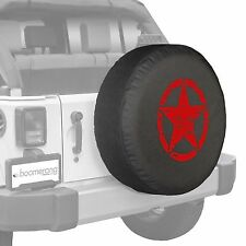 """32"""" Oscar Mike Star - Spare Tire Cover - Jeep Wrangler Freedom Edition - Red"""
