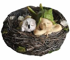 Sleeping Fairy Baby with Owl in Nest 2.5 Inches (4202) Miniature
