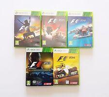 Lote 5 Juegos F1 Formula 1 2010,2011,2012,2013 & 2014 Xbox 360 (Esp) (Microsoft)
