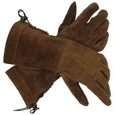 Swordsman Suede Gloves Brown, LOTR, Medieval, Cosplay, LARP