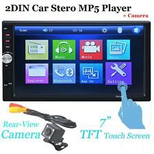 """7"""" 2 Din Bluetooth In Dash Car Stereo MP3 MP5 Player USB/SD Touch Screen  Camera"""