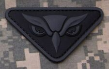 OWL HEAD OEF CIA SECRET SPY 3D PVC Velcro Badge Morale Military Patch DARK OPS