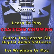 CASTING CROWNS Guitar Tab Lesson CD Software - 4 Songs