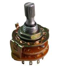 3 Pole 4 Position Rotary Switch Non-Shorting Pack of 8
