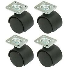 Pack of 4 - Twin 40mm wheel furniture castors with screws supplied