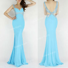 Mermaid Long Bridesmaid Evening Formal Party Cocktail Dress Ball Gown Prom Dress