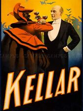 ADVERTISING THEATRE STAGE VAUDEVILLE MAGICIAN KELLAR (2) ART POSTER PRINT LV1244