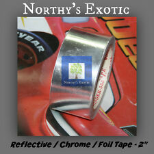 "2"" Chrome / Foil  / Silver Reflective Tape for Hydroponics (Qty:2)"