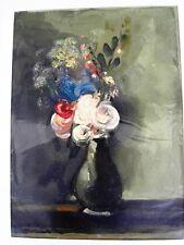 """VLAMINCK Maurice (1876-1958) """"Le bouquet"""" Lithographie en gaufrage et reliefs"""