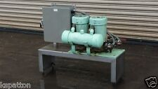 (2) Cam Vac Vacuum Pumps with Controls on Ss common base, Model #1510-2