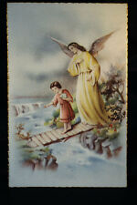 OLD SAINT GUARDIAN ANGEL RELIGIOUS POSTCARD . SEE MY EBAY SHOP . CCER99