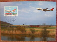 AVIATION 55 airplane 1987 airport GENF GENEVA SWITZERLAND aircraft MAXIMUM CARD