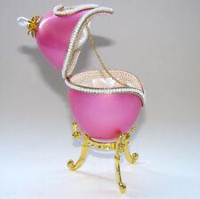 Boîte à bijoux oeuf en coquille style Faberge, oeuf Collection écrin à bijoux