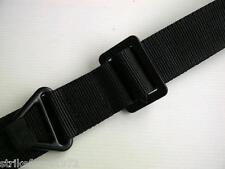 NEW - Black Nylon Rigger BDU 45mm wide Trouser Utility Belt