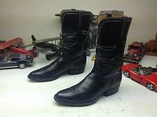 SAN ANTONIO TEX USA BLACK LEATHER LUCCHESE LACE UP ENGINEER TRAIL BOSS BOOTS 12D