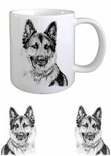 Alsatian/ German Shepherd Dog Sketch Ceramic Mug by paws2print