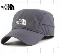 THE NORTH FACE Baseball Cap Light Weight Logo Hat Grey Curved Peak Adjustable