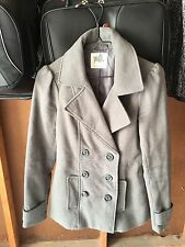 Black Poppy Size Small Womens Teen Petite Grey Gray Winter Spring Jacket Buttons