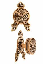 Oriental  drum door knobs with fancy rosettes eastlake bronze