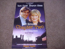 CHAPTER TWO  Tom CONTI & Sharon GLESS  Original  GIELGUD  Theatre Poster