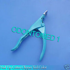 Nail Tip Cutter Clipper Acrylic Artificial Manicure NEW Teal Color