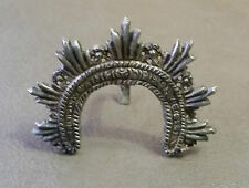 ANTIQUE & BEAUTIFUL HOLY HALO CROWN FOR VIRGIN SAINT STERLING SILVER MINIATURE