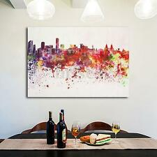 Modern City Art Oil Painting Canvas Print Picture Home Wall Decoration Unframe