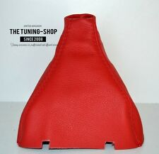 FOR SEAT IBIZA 6J 2008-2015 GEAR STICK GAITER RED LEATHER