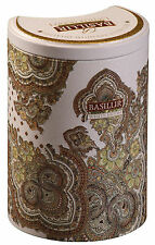 Tè basilur-WHITE MOON-latte Oolong GREEN TEA - 100g TIN Caddy