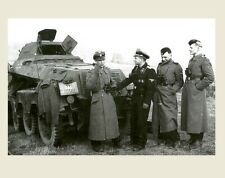 German SS Soldiers Group PHOTO World War II Military in Uniform By Vehicle