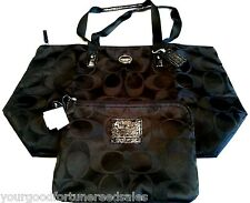 NWT Coach XL Nylon Packable Weekender Tote Duffle Travel Black Overnigtht  77316