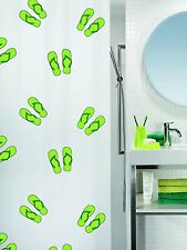Flippy Green Eco Shower curtain 70 9/10x78 7/10in 100% PEVA White Swiss Design