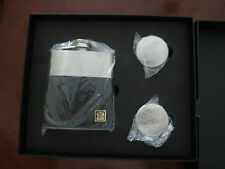 Great Gift!Elegant!  Boxed Set-Stainless Steel and Leather Flask with Cups $100