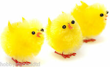 Yellow Mini Chicks Bonnet Decorating Craft Chics Fluffy Easter Egg Chicks x 12
