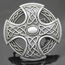 Western Cowboy Silver Celtic Trinity Knot Cross Rodeo Belt Buckle Line Dance W7