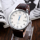 Men's Automatic Date Mechanical Leather Stainless Steel Wrist Watch Watches