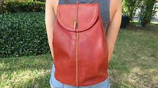 Henry Cuir Beguelin Artisan Sample Leather Backpack with Beaded Details