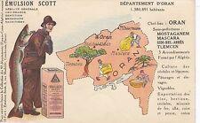 Francia, departamento de d 'Oran, mapa, emulsión scott, para 1910/20