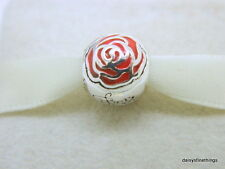 NEW!AUTHENTIC PANDORA CHARM DISNEY BELLES ROSE #791575EN09
