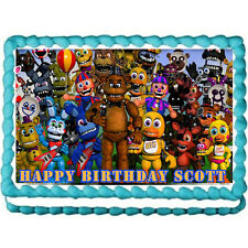 "Five nights at Freddy's world party edible cake image cake topper  -7.5""x10"""