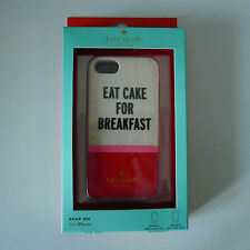 KATE SPADE Snap On EAT CAKE FOR BREAKFAST IPHONE CASE Cover 5 5S New York RARE !