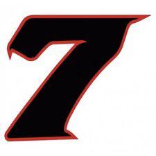 Chiffre 7 sept - autocollant sticker noir/rouge voiture moto 4 cm