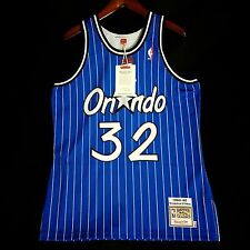 100% Authentic Shaquille O'Neal Mitchell Ness Magic Blue Jersey Sz 44 L - penny