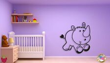 Wall Sticker For Kids Baby Rhino  Cool Decor for Nursery Room z1409