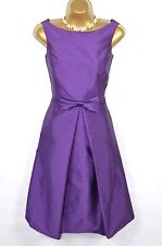 LAURA ASHLEY Purple fit and flare evening gown dress 14