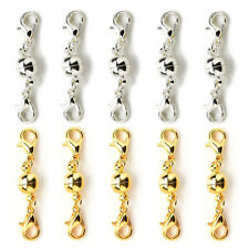 10 Pcs Gold & Silver Ball Tone Magnetic Lobster Clasps for Jewelry Necklace