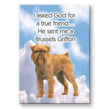 BRUSSELS GRIFFON True Friend From God FRIDGE MAGNET No 2