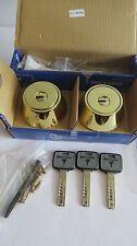 Mul T Lock MT5+ Deadbolt Hercular double Cylinder  3 keys -BRIGHT BRASS