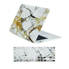 "White/Gold Marble Matte Case + Keyboard Cover for Macbook Air 13"" A1369 & A1466"